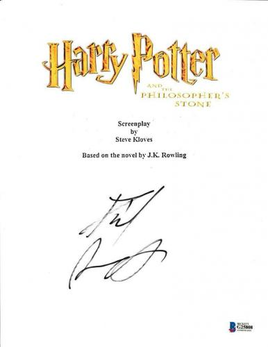 Daniel Radcliffe Signed Harry Potter And The Sorcerer's Stone Script Proof Bas