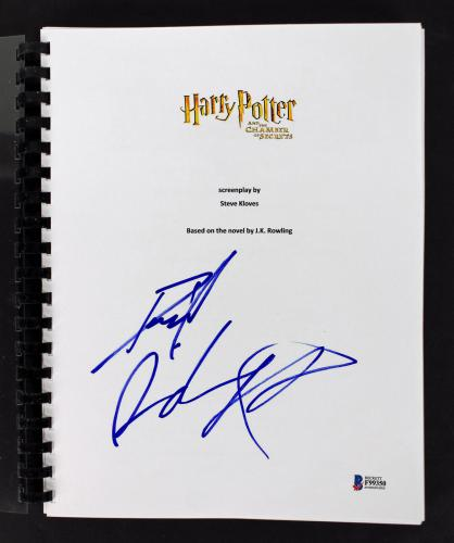 Daniel Radcliffe Signed  Harry Potter Chamber of Secrets Movie Script BAS F99350