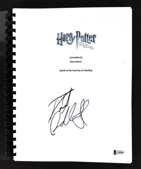 Daniel Radcliffe Signed Harry Potter Deathly Hallows 1 Movie Script BAS #G46609