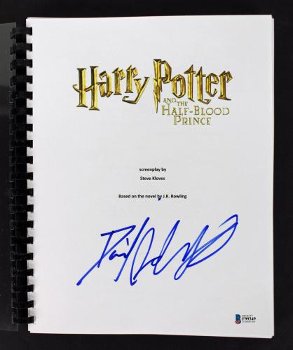 Daniel Radcliffe Signed Harry Potter Half-Blood Prince Movie Script BAS #F99349
