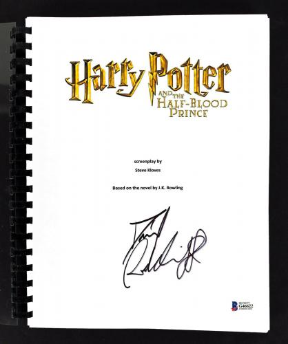 Daniel Radcliffe Signed Harry Potter Half-Blood Prince Movie Script BAS #G46622