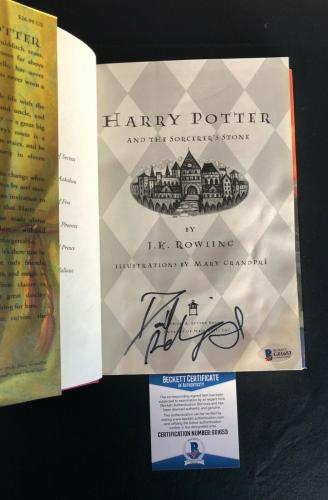 Daniel Radcliffe Signed Harry Potter Sorcerer's Stone Book Autographed Bas Coa