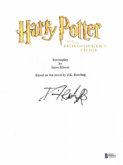 Daniel Radcliffe Signed Harry Potter Sorcerers Stone Full Script Screenplay Bas