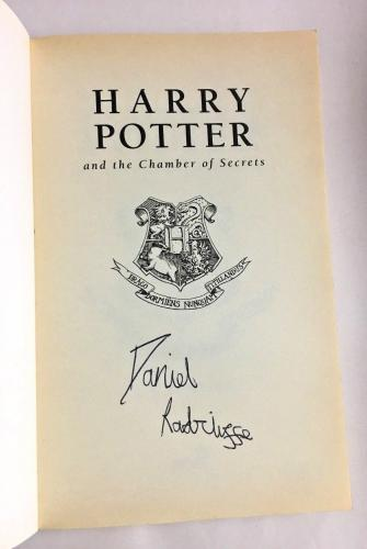 Daniel Radcliffe Signed Harry Potter & The Chamber Of Secrets Early Auto Bas Coa