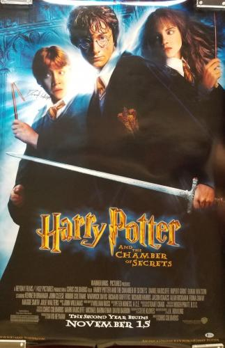 Daniel Radcliffe Signed Harry Potter & The Chamber of Secrets Poster BAS COA