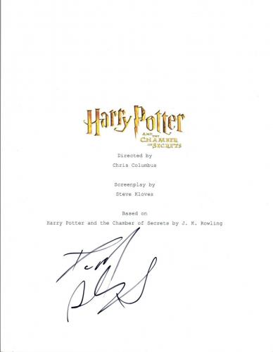 Daniel Radcliffe Signed HARRY POTTER & THE CHAMBER OF SECRETS Script COA VD