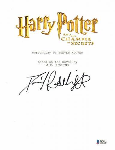 Daniel Radcliffe Signed Harry Potter The Chambers Of Secrets Full Script Beckett