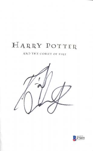 Daniel Radcliffe Signed Harry Potter & The Goblet Of Fire Book Beckett Bas Coa