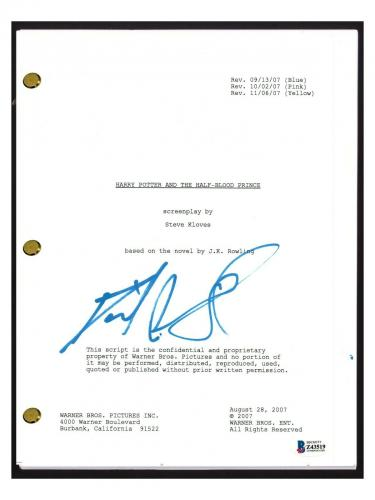 Daniel Radcliffe Signed Harry Potter & The Half-Blood Prince Script Beckett COA