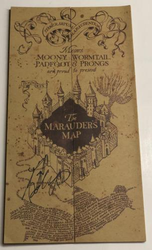 Daniel Radcliffe Signed Harry Potter The Marauders Map Autograph Beckett Coa