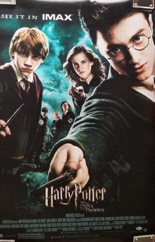 Daniel Radcliffe Signed Harry Potter & The Order of the Phoenix Poster BAS COA