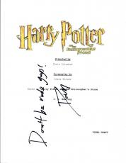 Daniel Radcliffe Signed HARRY POTTER & THE PHILOSOPHER'S STONE Script COA VD