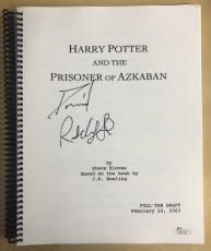 Daniel Radcliffe Signed Harry Potter & the Prisoner of Azkaban Movie Script JSA