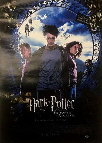 Daniel Radcliffe Signed Harry Potter & The Prisoner of Azkaban Poster BAS COA