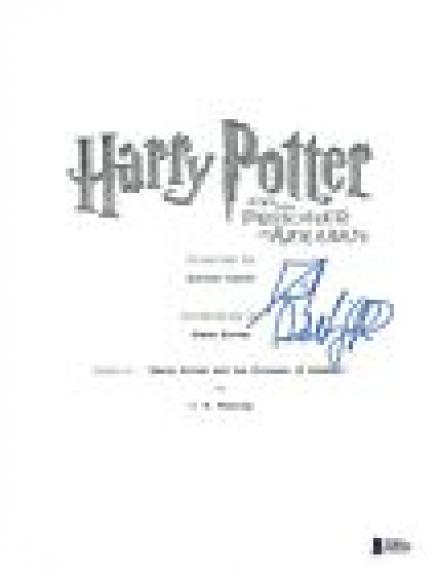 Daniel Radcliffe Signed HARRY POTTER & THE PRISONER OF AZKABAN Script BAS COA