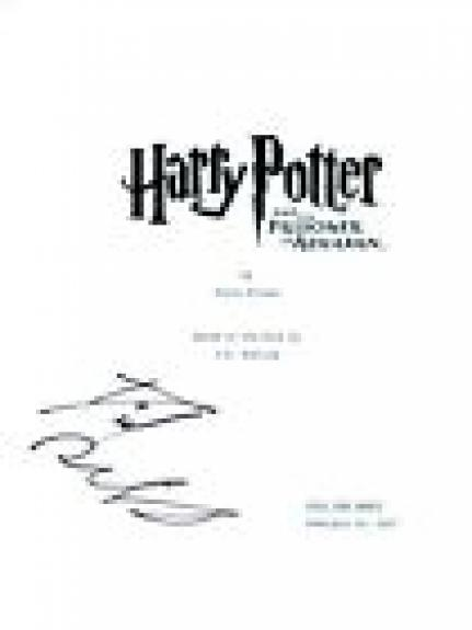 Daniel Radcliffe Signed HARRY POTTER & THE PRISONER OF AZKABAN Script COA