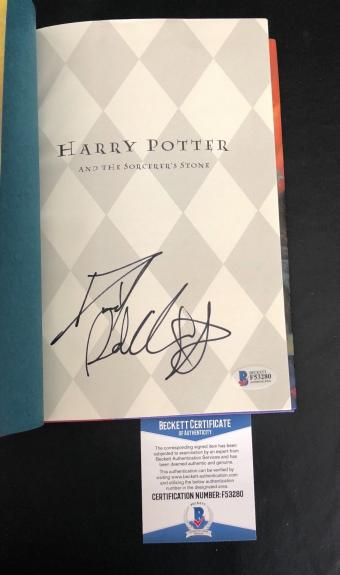 Daniel Radcliffe Signed Harry Potter The Sorcerers Stone Hardcover Beckett Bas 4