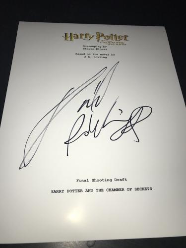 Daniel Radcliffe Signed Movie Script Harry Potter And The Chamber Of Secrets X2
