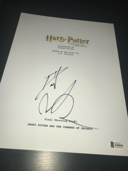 Daniel Radcliffe Signed Script Harry Potter Chamber Of Secrets Beckett Bas Ny D