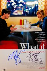 Daniel Radcliffe Zoe Kazan Dual Autographed 12X18 Photo What If JSA T60104