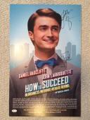 DANIEL RADCLIFFE+JOHN LARROQUETTE HAND SIGNED 14x22 BROADWAY WINDOW CARD     JSA