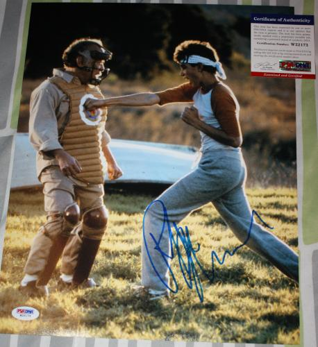DANIEL SON Ralph Macchio signed 11 x 14, Karate Kid, The Outsiders, PSA/DNA