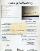 Daniel Webster JSA Coa Signed Cut Autograph