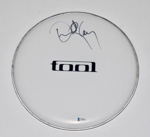 "Danny Carey Signed Autographed 12"" Drumhead TOOL Drummer Beckett BAS COA"