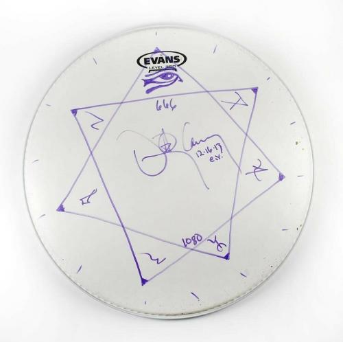 Danny Carey Tool Autographed Signed Drumhead Authentic BAS COA