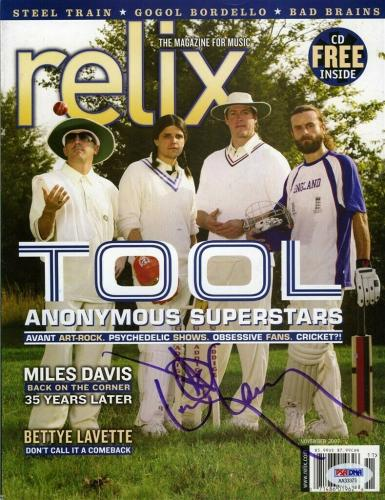 Danny Carey Tool Relix Autographed Signed Magazine Certified Authentic PSA/DNA