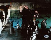 "Danny DeVito Autographed 8"" x 10"" Batman Returns Penguin Feeding Penguins Photograph - Beckett COA"