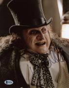 """Danny DeVito Autographed 8"""" x 10"""" Batman Returns Penguin Up Close Photograph - Beckett COA"""