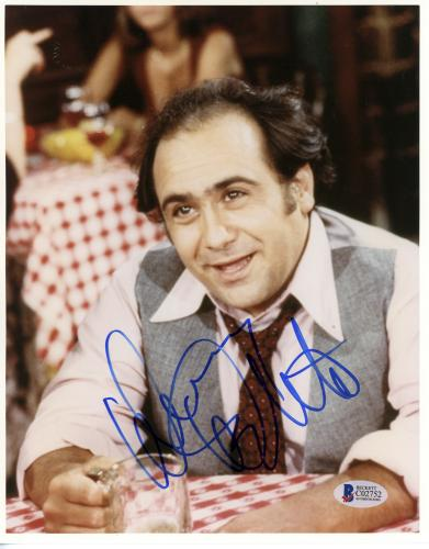 """Danny Devito Autographed 8""""x 10"""" Taxi Drinking Beer Photograph - Beckett COA"""