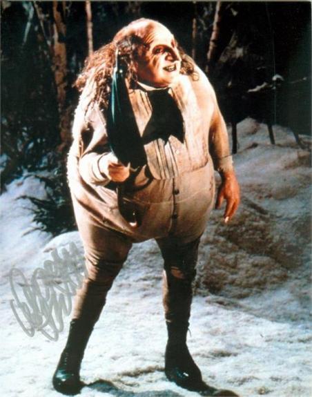 Danny DeVito autographed 8x10 photo (Penguin Batman) Image #SC1