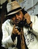 Danny DeVito signed Romancing the Stone 11X14 Photo (Close up)- Beckett Holo #C87100