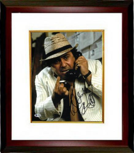 Danny DeVito signed Romancing the Stone 11X14 Photo Custom Framed (Close up)- Beckett Holo #C87100