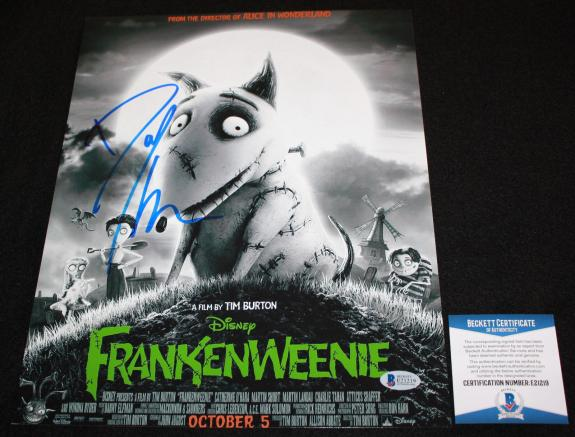 Danny Elfman signed 11 x 14, Frankenweenie, Jack Skellington,Disney, Beckett BAS