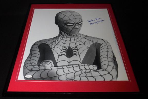 Danny Seagren Signed Framed 18x24 Spider-Man Photo Display JSA Electric Company