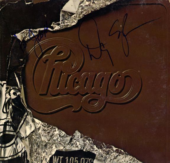 Danny Seraphine Chicago Autographed Chocolate Album Cover AFTAL UACC RD COA