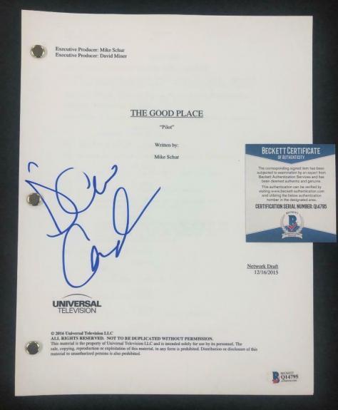 D'Arcy Carden aka Janet signed The Good Place full TV Script ~ Beckett BAS COA 3