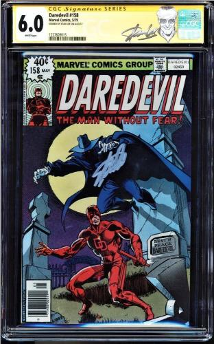 Daredevil #158 Cgc 6.0 White Ss Stan Lee Frank Miller's Run Begins  #1227609015