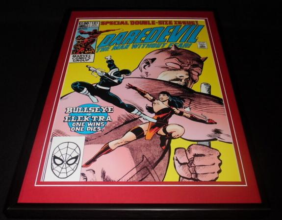 Daredevil #181 Framed 12x18 Cover Photo Poster Display Official Repro Elektra