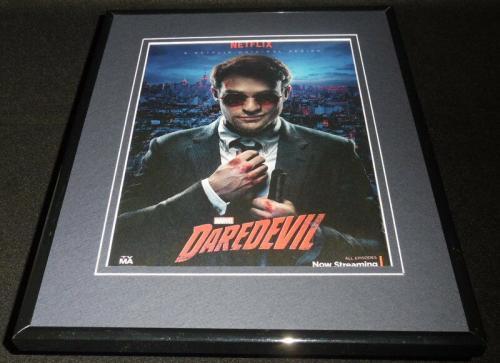 Daredevil 2015 Netflix Premiere Framed 11x14 ORIGINAL Advertisement Charlie Cox