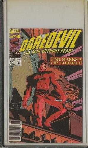 Daredevil #304 Marvel 1992 Esquire Neckties Cover Card RARE!