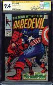 Daredevil #43 Cgc 9.4 Oww Ss Stan Lee Dd Vs Captain America Cgc #1227702016