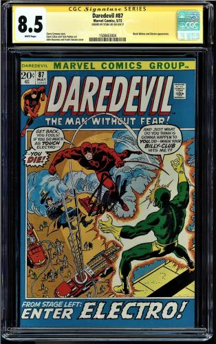 Daredevil #87 Cgc 8.5 White Ss Stan Lee Black Widow And Electro App #1508463004