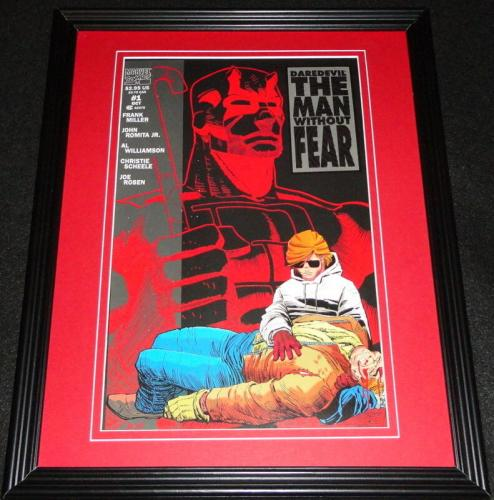 Daredevil Man Without Fear #1 Framed Cover Photo Poster 11x14 Official Repro