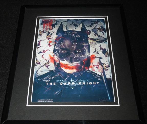 Dark Knight Framed 8x10 Repro Poster Display Christian Bale Heath Ledger Batman