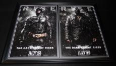 Dark Knight Rises 2012 Framed 18x24 Poster Set Batman Bane Christian Bale