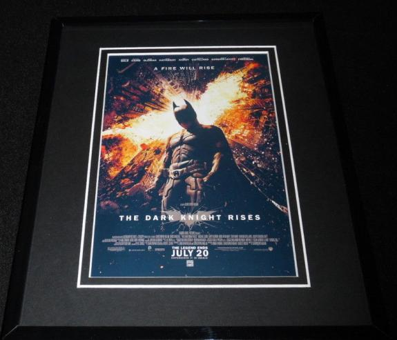 Dark Knight Rises Framed 8x10 Repro Poster Display Christian Bale Batman